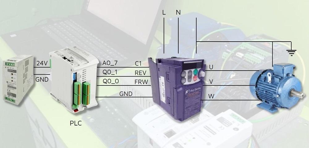 Control de velocidad de motor trifásico con PLC basado en Arduino